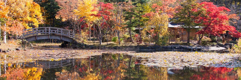 秋の岩見沢玉泉館跡地公園